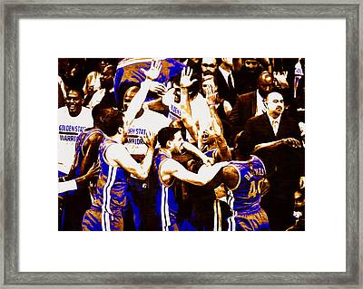 Golden State Warriors 2015 Nba Finals Framed Print by Brian Reaves