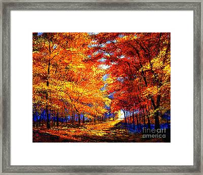 Golden Sunlight Framed Print by David Lloyd Glover