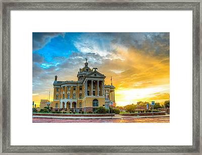 Golden Sunset Framed Print by Geoff Mckay