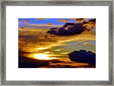 Golden Sunset Framed Print by Patrick Mansen