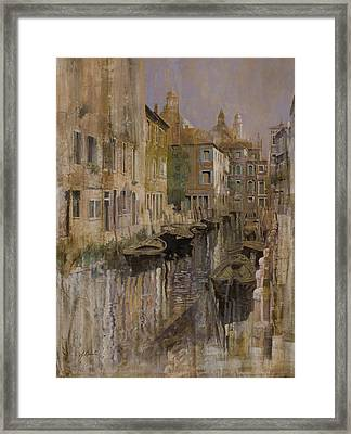 Golden Venice Framed Print by Guido Borelli