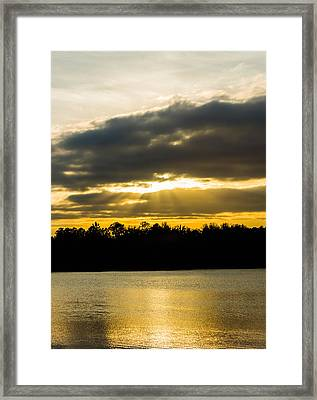 Golden Warmth At Sunset Framed Print by Parker Cunningham