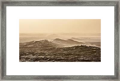 Golden Waves Framed Print by Sophie De Roumanie