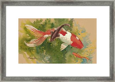 Goldfish Crossing Framed Print by Tracie Thompson