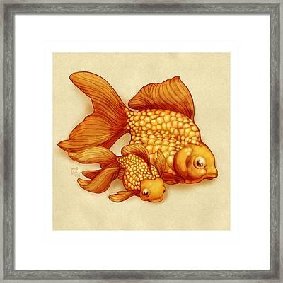 Goldfish I Framed Print by Catherine Noel