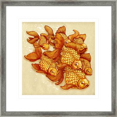 Goldfish On The Go Framed Print by Catherine Noel