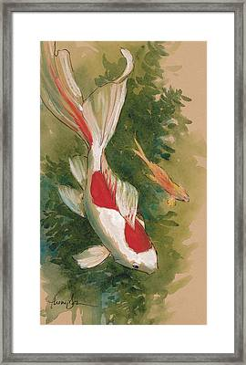 Goldfish Pair Framed Print by Tracie Thompson