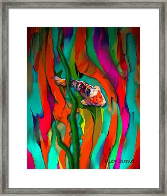 Goldfish World Framed Print by Nick Diemel