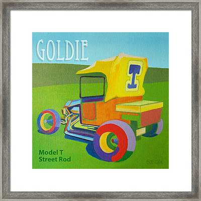 Goldie Model T Framed Print by Evie Cook