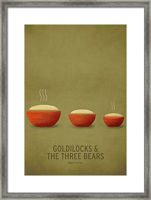 Goldilocks And The Three Bears Framed Print by Christian Jackson