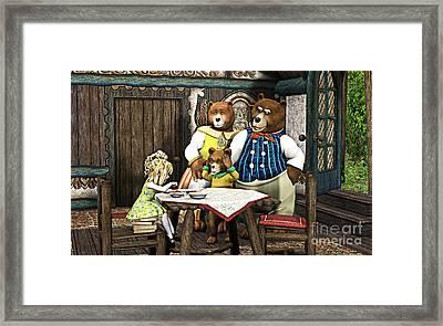 Goldilocks N The 3 Bears Framed Print by Methune Hively