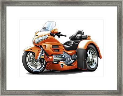 Goldwing Orange Trike Framed Print by Maddmax