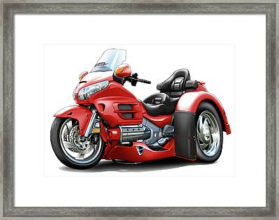 Goldwing Red Trike Framed Print by Maddmax