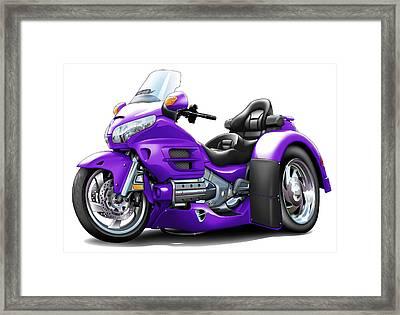 Goldwing Trike Purple Bike Framed Print by Maddmax
