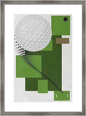 Golf Art Par 4 Framed Print by Joe Hamilton