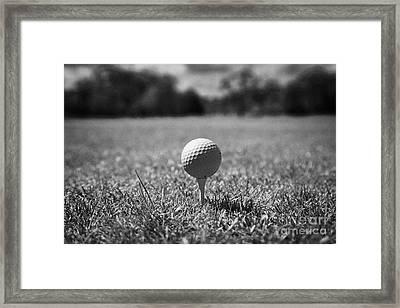 Golf Ball On The Tee Framed Print by Joe Fox