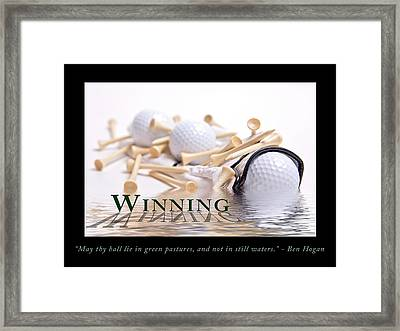 Golf Motivational Poster Framed Print by Tom Mc Nemar