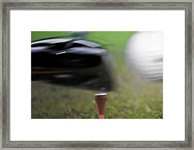 Golf Sport Or Game Framed Print by Christine Till