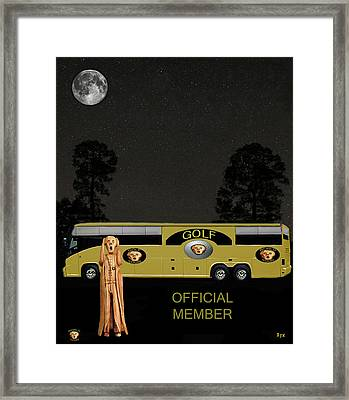 Golf World Tour Scream Framed Print by Eric Kempson