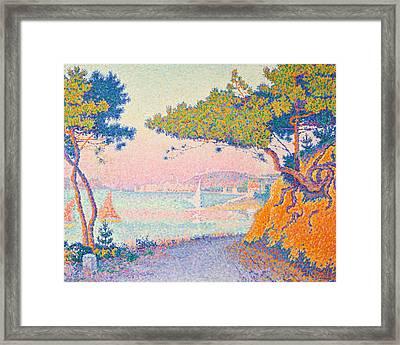 Golfe Juan Framed Print by Paul Signac
