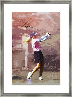 Golfer Framed Print by David Haskett