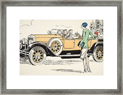 Golfing At Deauville Framed Print by Sem