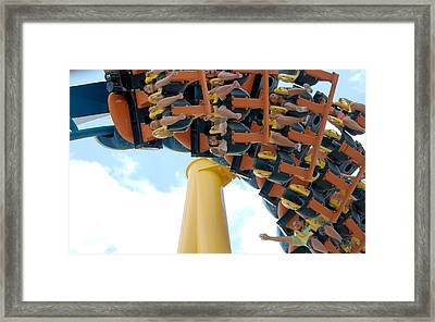 Goliath Rollercoaster Framed Print by Roy Williams