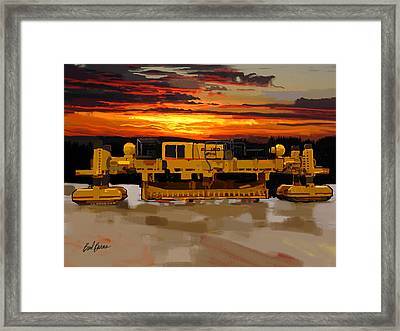 Gomaco Slip Form Paver Framed Print by Brad Burns