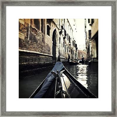 gondola - Venice Framed Print by Joana Kruse