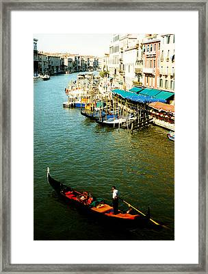 Gondola In Venice Italy Framed Print by Michelle Calkins