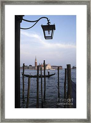 Gondola Near Piazza San Marco Venice Framed Print by Gordon Wood