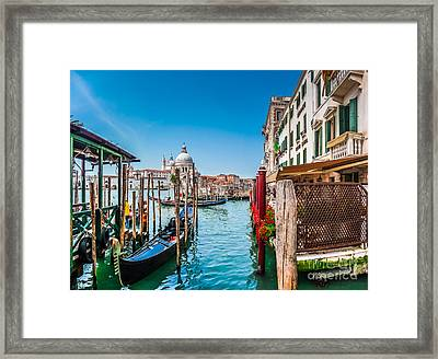 Gondola Ride In Venice Framed Print by JR Photography