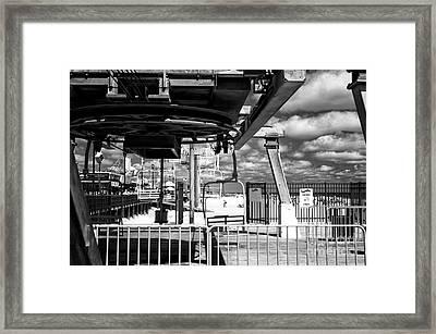 Gondola View Mono Framed Print by John Rizzuto