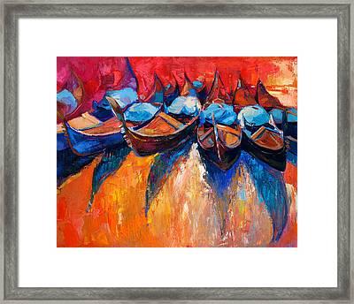 Gondolas Framed Print by Boyan Dimitrov