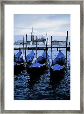 Gondolas Of Venice Framed Print by Warren Home Decor