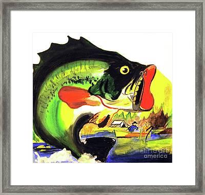 Gone Fishing Framed Print by Linda Simon