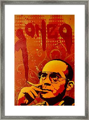 Gonzo - Hunter S. Thompson Framed Print by Tai Taeoalii