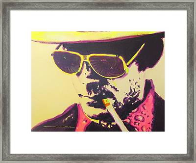 Gonzo - Hunter S. Thompson Framed Print by Eric Dee