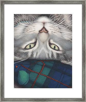 Goobie - A Boy And His Toy Framed Print by Amy S Turner