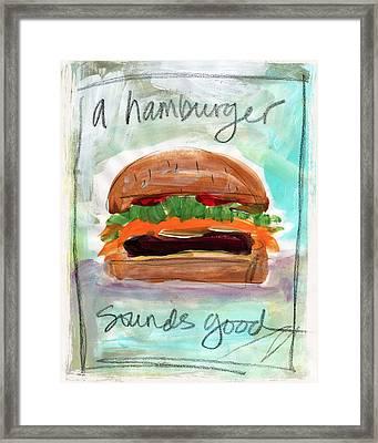 Good Burger Framed Print by Linda Woods