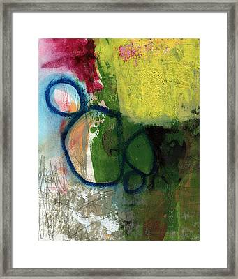Good Day-abstract Painting By Linda Woods Framed Print by Linda Woods