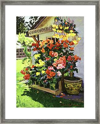 Good Earth Farm Framed Print by David Lloyd Glover