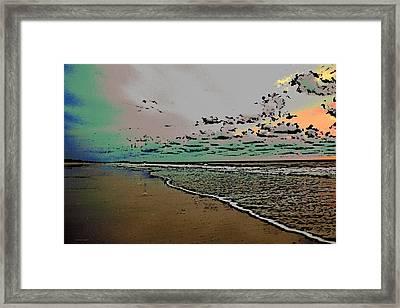 Good Morning Beach Framed Print by James Fowler