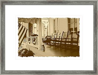 Good Old Times Framed Print by George Oze
