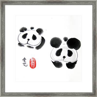 Good Things Come In Pairs Framed Print by Oiyee At Oystudio