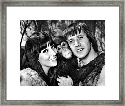 Good Times, Cher, Sonny Bono, On Set Framed Print by Everett