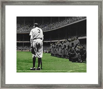 Goodbye Babe Ruth Farewell Horizontal Framed Print by Tony Rubino