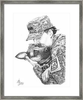Goodbye Kiss Framed Print by Murphy Elliott