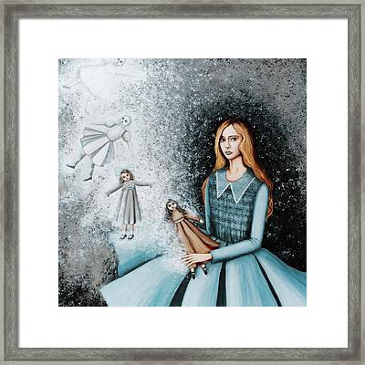 Goodbye  To Dolls Framed Print by Graciela Bello
