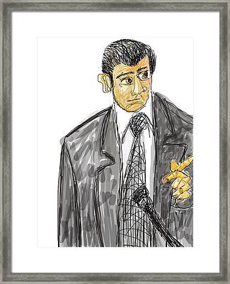 Goodfellas. Henry Hill In Court.  Framed Print by Richard VanSciver